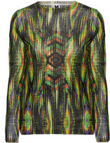 M Missoni Printed cotton-blend sweater