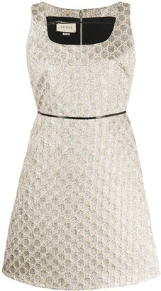 Gucci Heritage GG lame mini dress