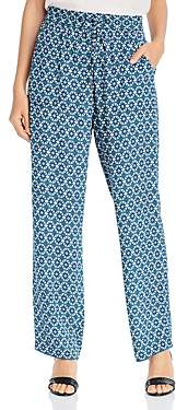 Elie Tahari Zuma Kaleidoscope-Print Pants