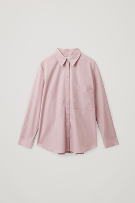 Cos Organic Cotton Pleated Tunic Shirt