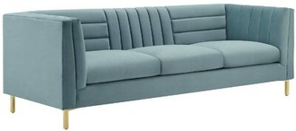 Machuca Chesterfield Sofa Mercer41 Upholstery Color: Light Blue