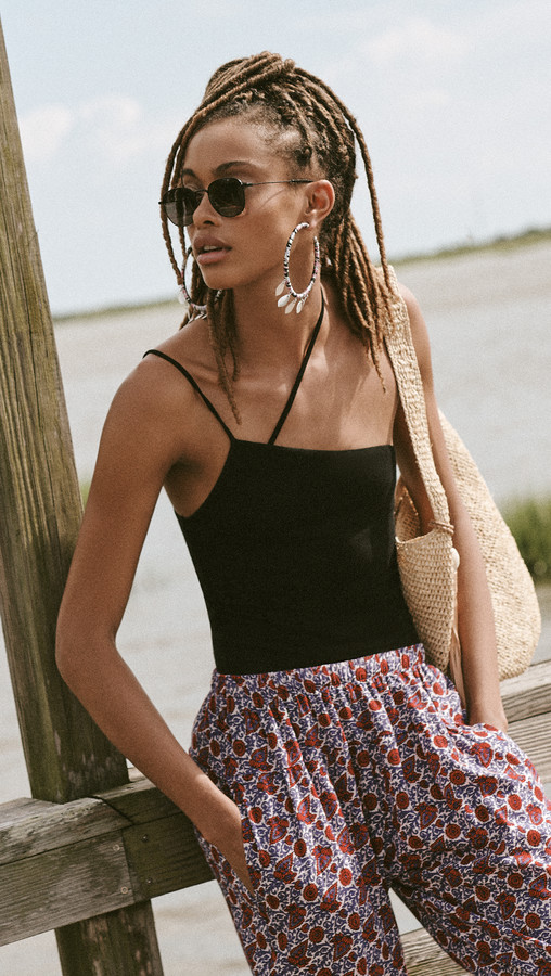 Thumbnail for your product : Enza Costa Silk Rib Asymmetric Strappy Tank