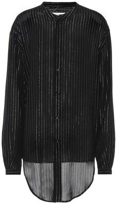 Saint Laurent Striped metallic shirt
