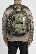 Valentino Camouflage Printed Backpack with Leather