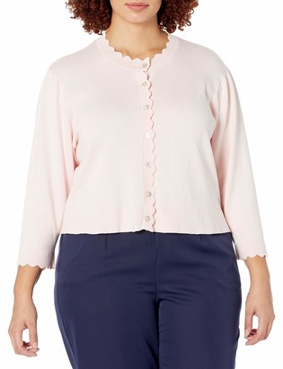 Ronni Nicole Women's Plus Size Scallop Cardigan