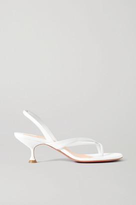 Christian Louboutin Taralita 55 Leather Slingback Sandals - White