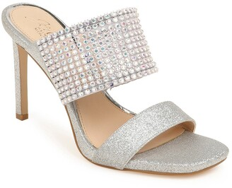 Badgley Mischka Ferris Crystal Band Slide Sandal