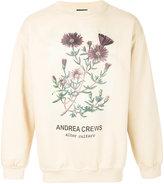 Andrea Crews floral print sweatshirt