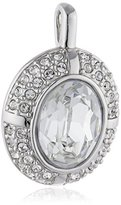 Jacques Lemans Women's Pendant Rhodium-Plated Brass and White CRYSTAL-J0217P / 00 / 00