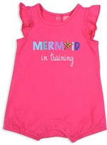 Butter Shoes Girls' Mermaid In Training Romper - Baby