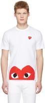 Comme des Garcons White Half Heart T-Shirt