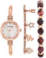Anne Klein Women's Rosetone Watch and BraceletSet