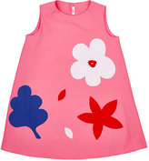 Il Gufo Flower-Appliquéd Cotton-Blend Dress
