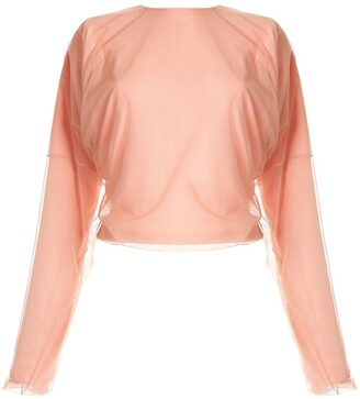 Y/Project Mesh Overlay Dolman Top