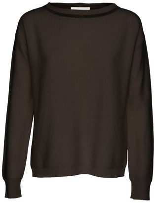 Fabiana Filippi Brilliant-Trim Herringbone Stitched Sweater