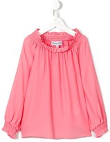Simonetta elasticated neckline blouse - kids - Silk/Acetate - 6 yrs