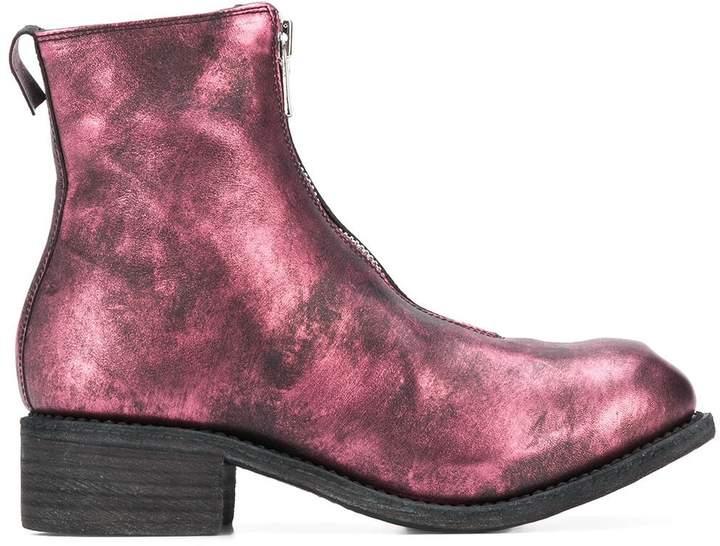 Guidi metallic ankle boots