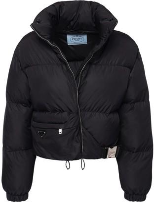 Prada Light Nylon Down Jacket W/ Side Buckle