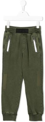 Diesel cuffed logo patch track pants