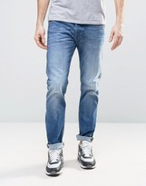 Diesel Belther Slim Stretch Fit Jeans 859r Mid Light Wash