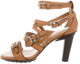 Tod's Leather Buckle-Accented Sandals