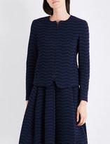 Armani Collezioni Textured jersey jacket