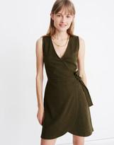 Madewell Crosshatch Side-Tie Dress