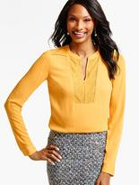 Talbots Embroidered-Dots Blouse