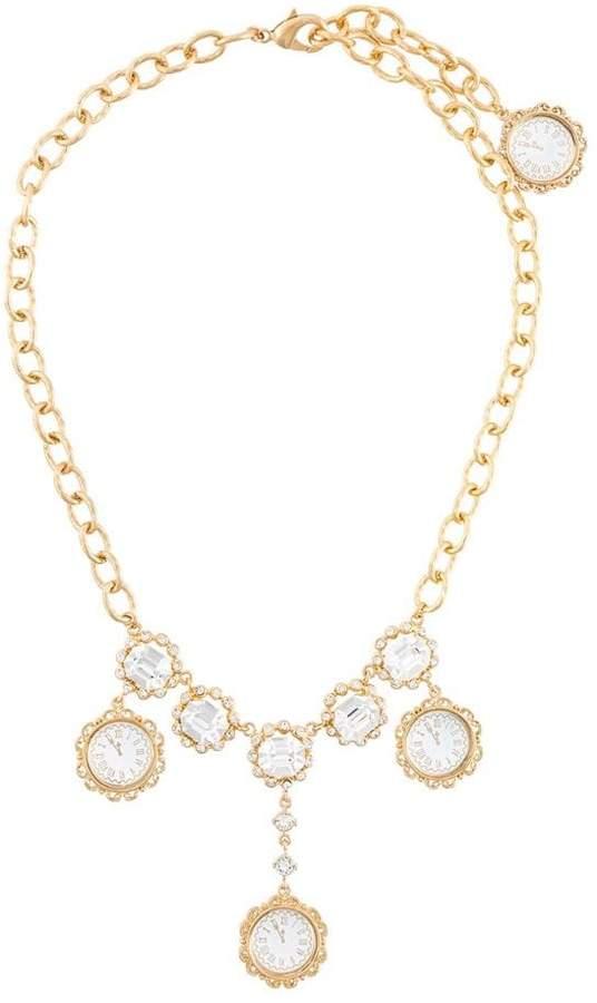 Dolce & Gabbana clock pendant necklace