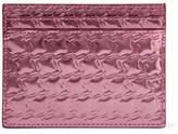 Christian Louboutin Kios Embossed Metallic Leather Cardholder - one size