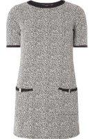 Dorothy Perkins Womens Grey Animal Bow Tunic- Grey