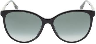 Gucci Black Acetate Cat-Eye Sunglasses