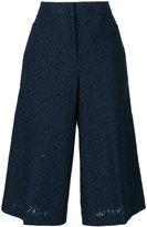 No.21 lace cropped trousers - women - Cotton/Polyamide - 40