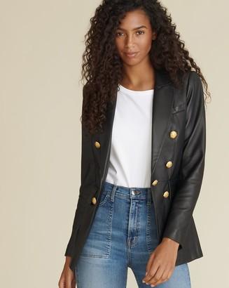 Veronica Beard Gaya Leather Dickey Jacket
