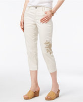 Style&Co. Style & Co Petite Embroidered Cargo Capris, Created for Macy's