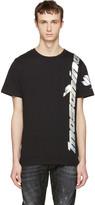Moschino Black Iridescent Lotus Logo T-shirt