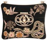Roberto Cavalli Swarovski Embroidered Velvet Minaudiere