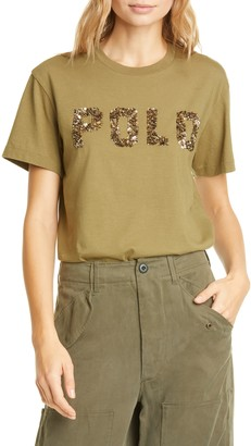 Polo Ralph Lauren Beaded Logo Cotton Tee