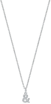 Tiffany & Co. & Love ampersand pendant in 18k white gold with diamonds, small