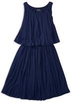 Ralph Lauren Girls' Overlap Back Jersey Dress - Sizes S-XL