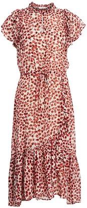 MUNTHE Jess Silk-Blend Abstract Midi Dress