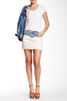 Current/Elliott The Cut-Off Mini Denim Skirt