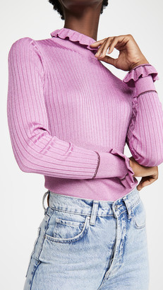 Victoria Victoria Beckham Rib Switch Fitted Sweater