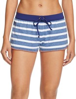 Splendid Chambray Cottage Stripe Swim Cover-Up Shorts
