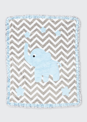 Boogie Baby Big Foot Plush Chevron Elephant Blanket
