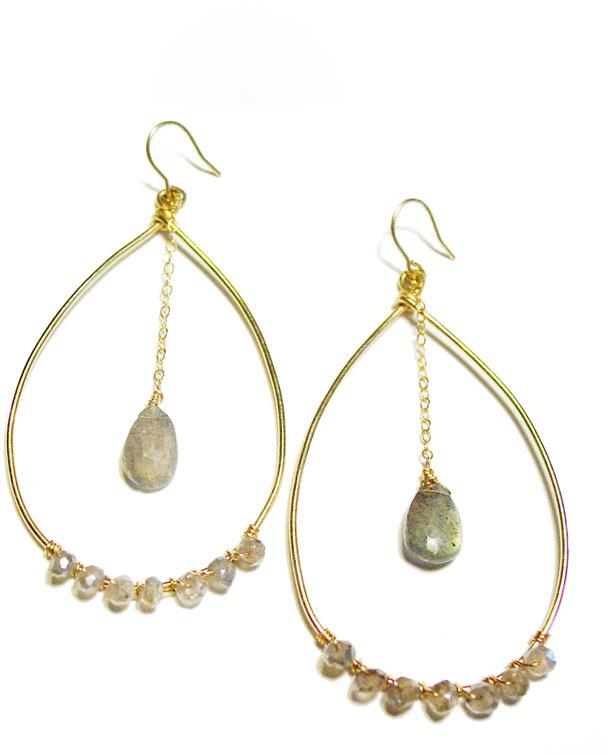 Amy DiGregorio Cambridge Earrings in Labradorite