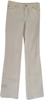 Louis Vuitton Beige Cotton Jeans