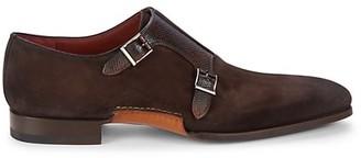Magnanni Islaro II Suede & Leather Monk-Strap Oxfords