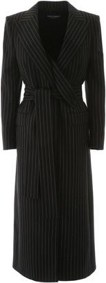 Dolce & Gabbana Pinstripe Wool Coat