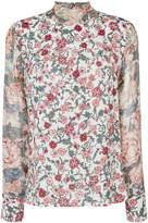 See by Chloé floral print neck tie blouse
